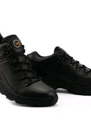 Кроссовки мужские кожаные черные Step Wey 5233 Active