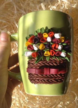 Весняна чашка з декором