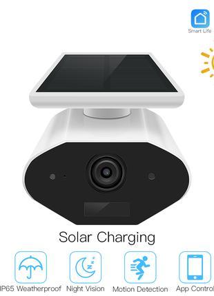 Уличная WIFI видеокамера Tuya Smart HD 1080P с солнечной панелью
