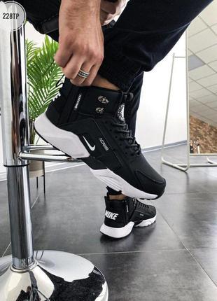 Стильные  демисезонные  мужские  кроссовки  city m!d black/white