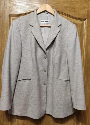 Gerry weber! шикарный серый шерстяной пиджак