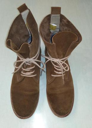 Dockers стильные демисезонные замшевые ботинки цвета кэмел