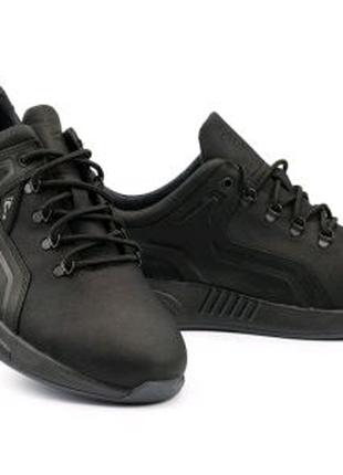 Кроссовки мужские кожаные черные Clubshoes 19/41