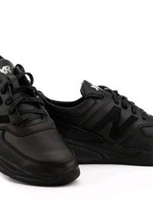 Кроссовки мужские кожаные черные EXtrem 1431/37-1
