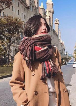 Стильний теплий шарф 779н