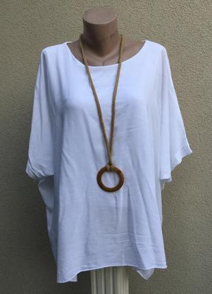 Белая,штапельная блуза-пончо,разлетайка,рубаха,этно,бохо стиль...