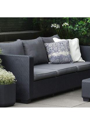 Комплект садовой мебели Allibert Keter Salta 3-Seater Sofa
