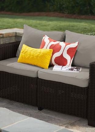 Комплект садовой мебели Allibert Keter California 2-Seater Sofa