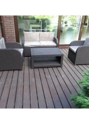 Комплект садовой мебели Allibert Modena Lounge Set
