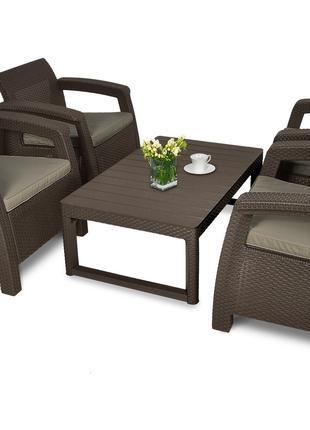 Комплект садовой мебели Keter Corfu Quattro Lyon Set