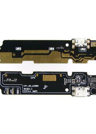 Шлейф для Xiaomi Redmi Note 2, с разъемом зарядки, с микрофоном,