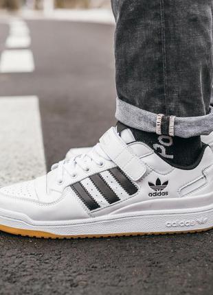 Мужские кроссвоки adidas forum white black