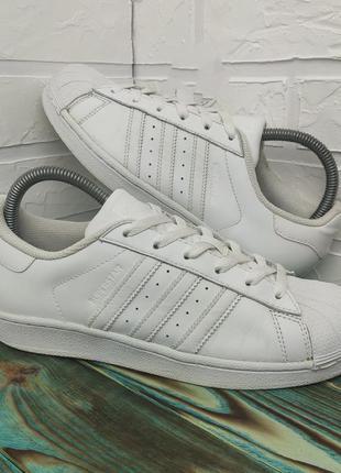 Оригинальные кожаные кроссовки adidas superstar 38