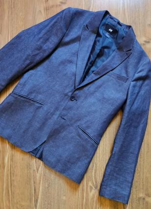 Мужской пиджак H&M классического кроя, размер М