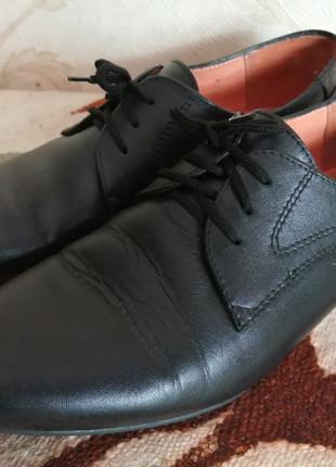 Туфли кожаные на мальчика 36 размер
