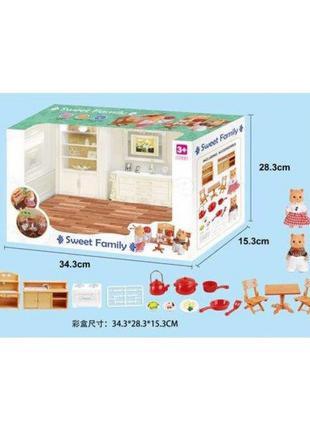Животные флоксовые 1603F Кухня мебель + посуда, фигурки животных