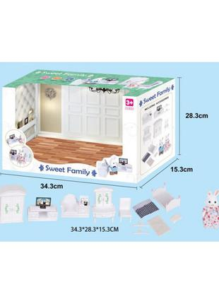 Животные флоксовые 1606F Спальня, фигурки животного в комплекте,