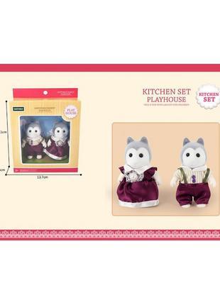 Животные флоксовые G05 Собачки, 2 фигурки, в коробке 13,7*4,6*15,