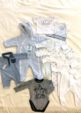 Одежда для новорожденного мальчика, 0-6 мес (флисовый человечек