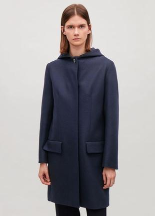 Пальто Cos 73% шерсть 5% кашемир полупальто шерстяное кашемировое