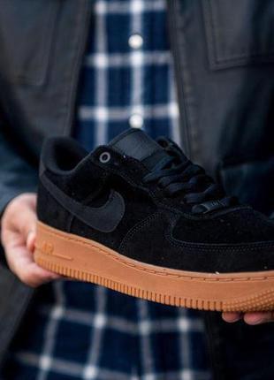 Nike – air force 1 '07 lv8 suede mens low-top black артикул: #...