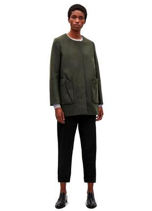 Полупальто Cos шерстяное кашемировое пальто 73% шерсть 5% кашемир