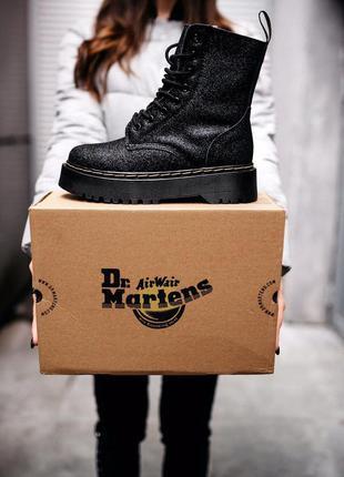 Ботинки dr.martens jadon glitter мех