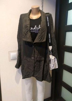 Стильный тонкий кардиган кофта пиджак жакет блейзер