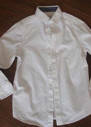 Фирменная крутая нарядная рубашка мальчику 5-6 лет в идеале