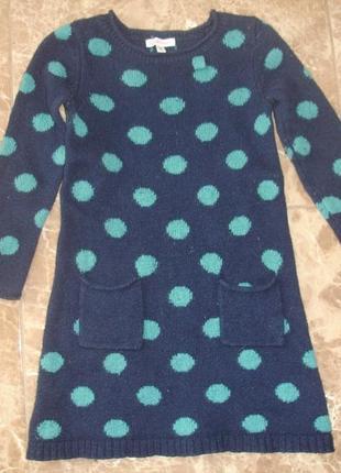 Фирменное теплое платье девочке 2-3 лет отличное