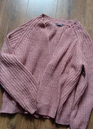 Красивый свитер кардиган с люрексом