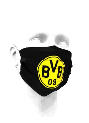 Тканевая маска для лица ФК Боруссия Дортмунд детские и взрослые