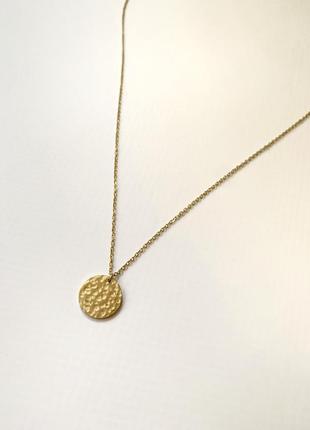 Нежная женская цепочка с подвеской из нержавеющей стали золото...