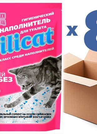 Наполнитель для кошачьего туалета SILICAT3.8Lx8шт (30,4л)