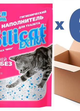 Наполнитель для кошачьего туалета SILICAT EXTRA 5.0Lx6шт(30L)