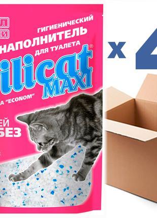 Наполнитель для кошачьего туалета SILICAT MAXI 7.2Lx4шт(28.8)
