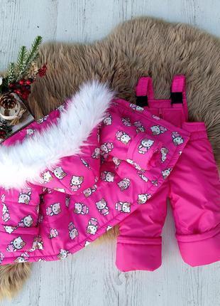 Зимний костюм (полукомбез + курточка)