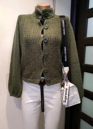 Тёплая стильная брэндовая кофта джемпер кардиган