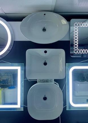 Зеркала с подсветкой для ванной умывальники  пеналы qtap potat...