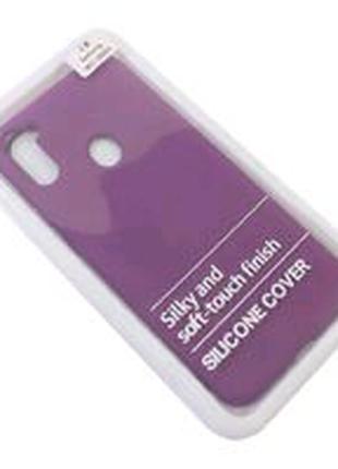 Накладка Silicone Cover Samsung M115 Galaxy M11 violet