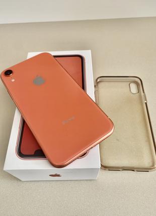 Практически новый Apple Iphone XR 128 Гб коралл на 2 сим карты