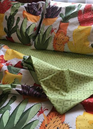 Постельное белье, постельное белье с кактусами, постельное бязь