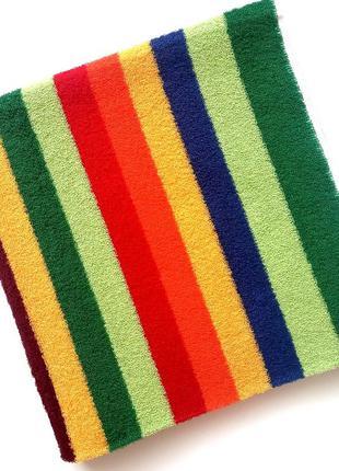 Полотенце банное махровое 140*70 в разноцветную полосочку