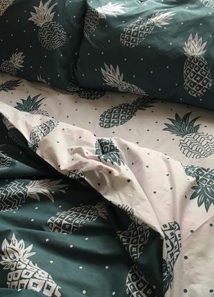 Постельное белье, постельное белье с ананасами, постельное бязь