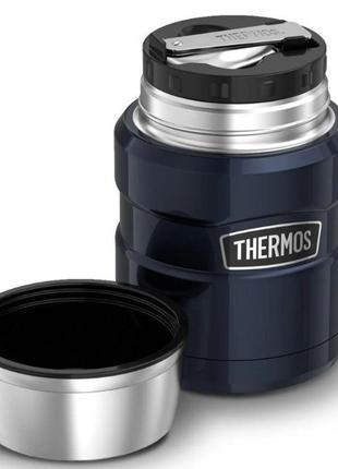 Акция! Термос для еды с ложкой Thermos King Midnight Blue 470m...