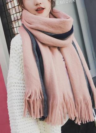 Стильний теплий шарф 781н