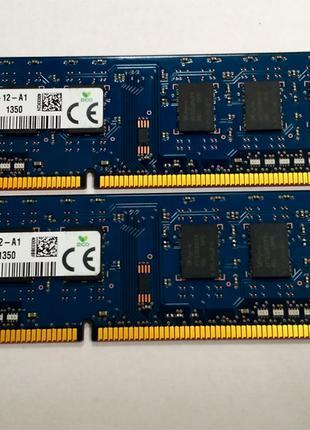 Оперативная Память Для ПК Hynix DDR3-1600MHz PC3-12800 4GB (2x2G)