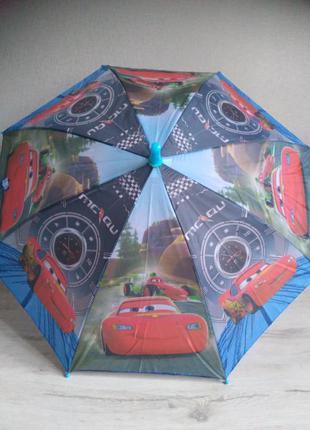 Зонт для мальчика 2-6 лет тачки макквин