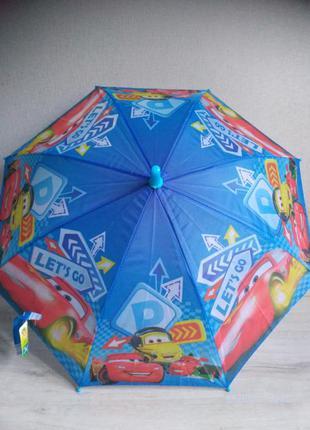 Зонт для мальчика машинки тачки зонтик макквин 2-6 лет