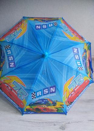 Уценка! зонт для мальчика тачки зонтик 2-6 лет
